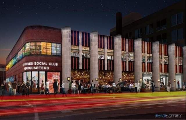 An architect's rendering of the Des Moines Social Club.
