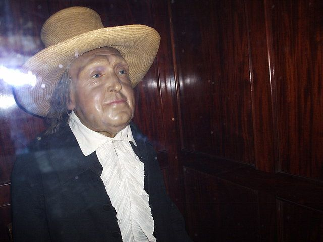 Jeremy Bentham, embalmed at University College London.