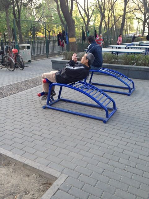 Beijing park exercise equipment gallery—Sit ups