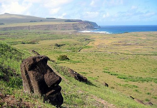 Head of an Easter Island Moai.