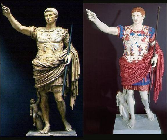 White washing: the classic Greco-Roman statues used to boast many colors.
