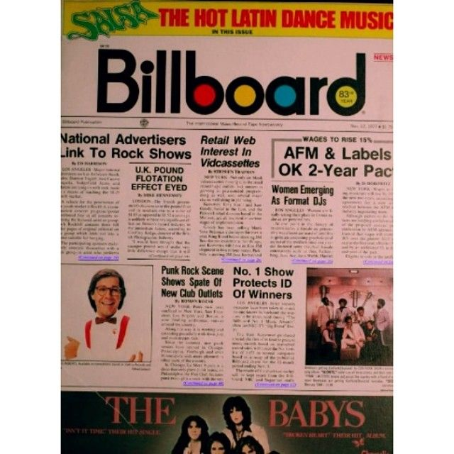Cover of Billboard magazine that contains the Ambrosio advert.