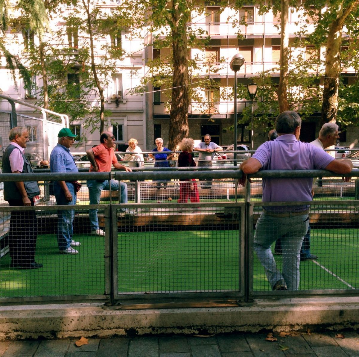 Bocce in the sun.