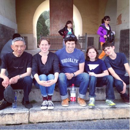 William, Sarah, Russull, Angus, and Mischa at the Ming Tombs.