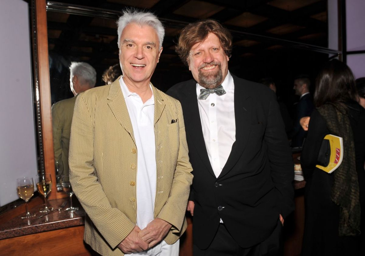 David Byrne and Oskar Eustis.