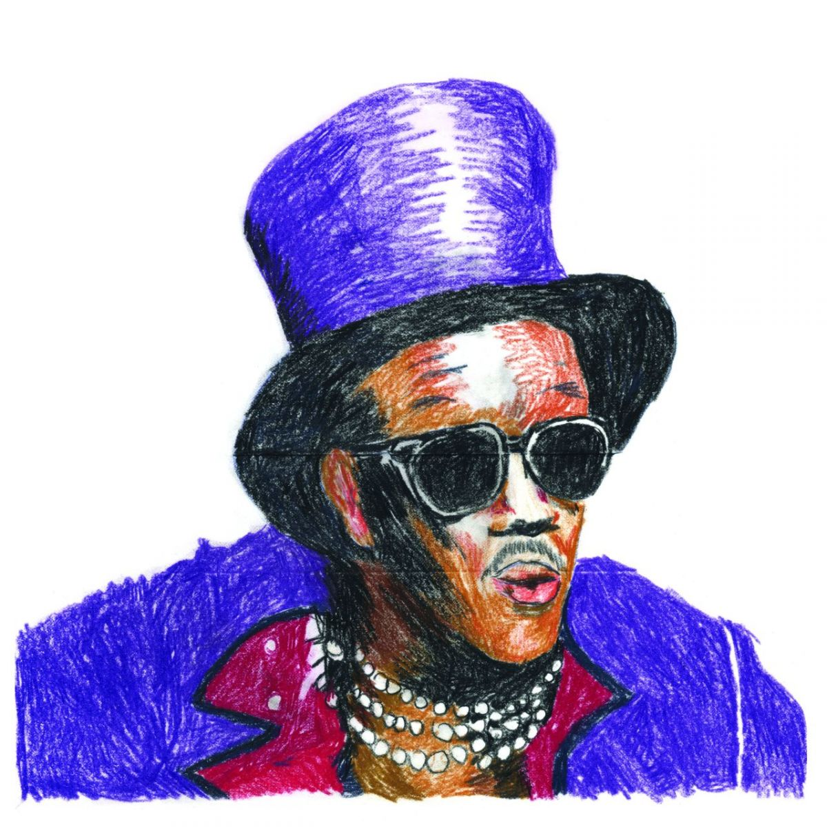 Bernie Worrell drawing by DB.