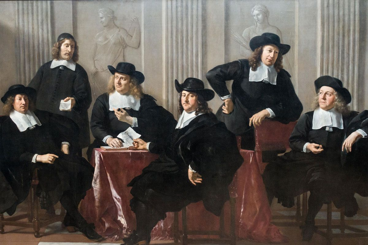 The Regents of the Spinhuis and Nieuwe Werkhuis, Amsterdam, Karel Dujardin, 1669.