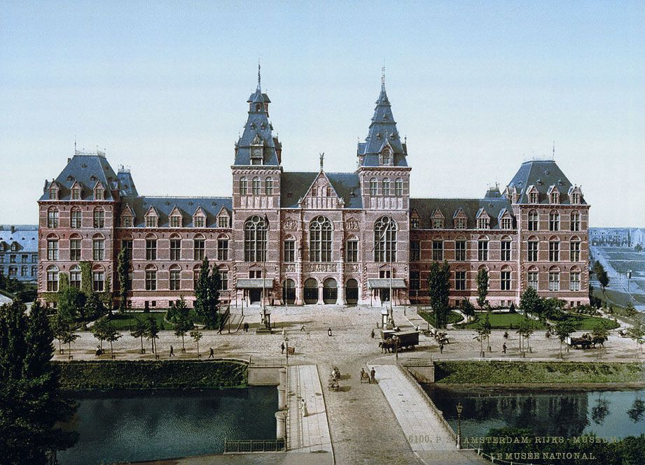 The Rijksmuseum in Amsterdam, Netherlands.