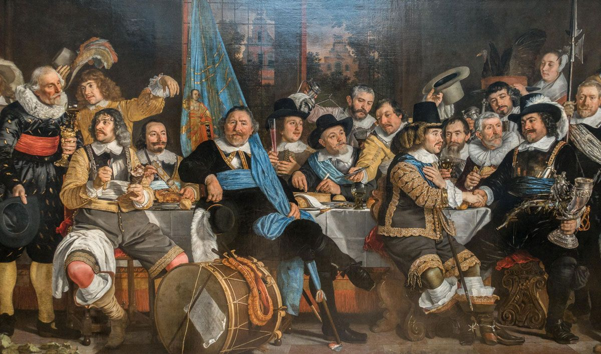 Banquet celebrating the Treaty of Munster, 18 June 1648. Bartholomeus van der Helst, 1648.