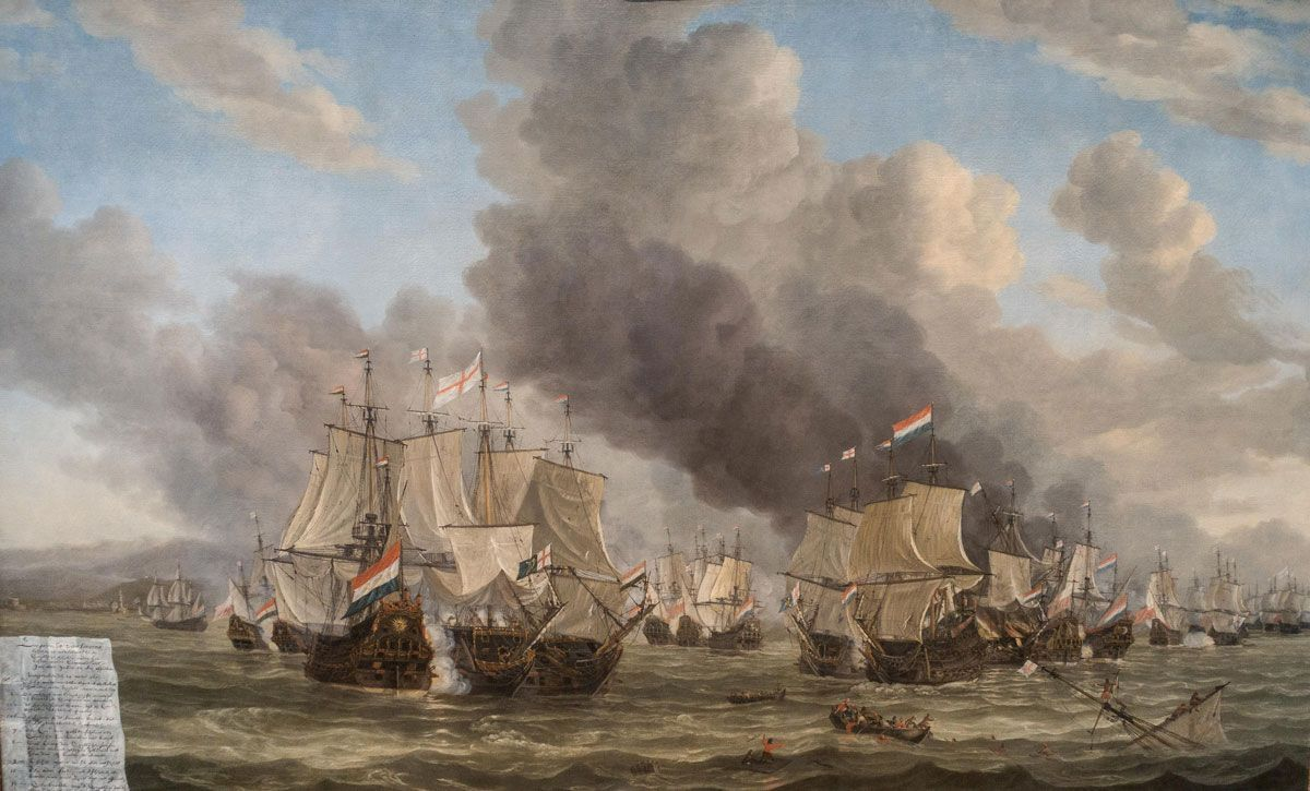 The Battle of Livorno, Reinier Nooms, 1653 - 1664.