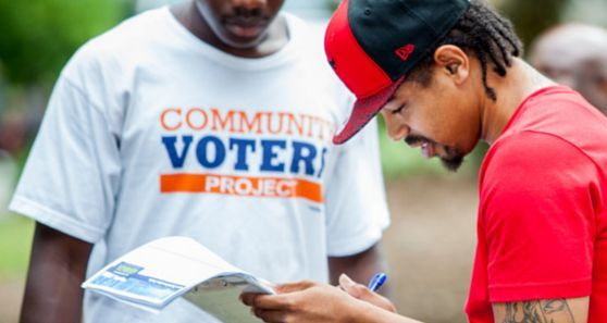 The Community Voters Project registers voters by street canvassing and talking to people one-on-one.