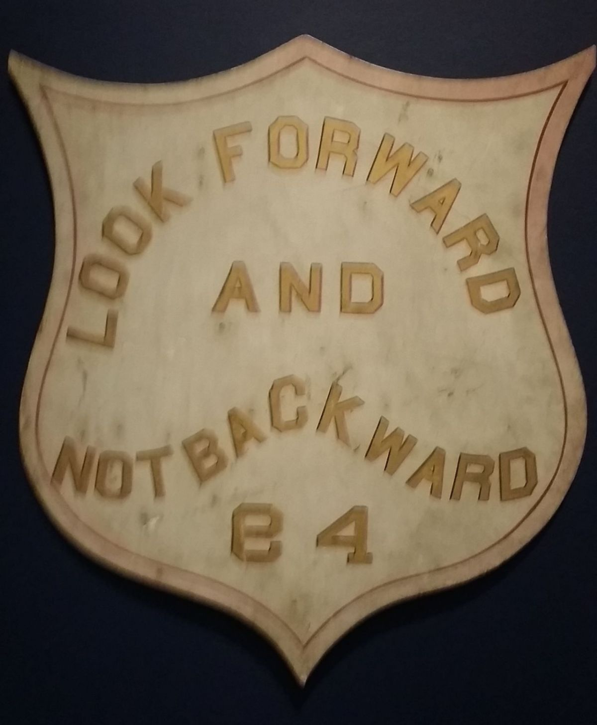 A Masonic or Odd Fellows sign.